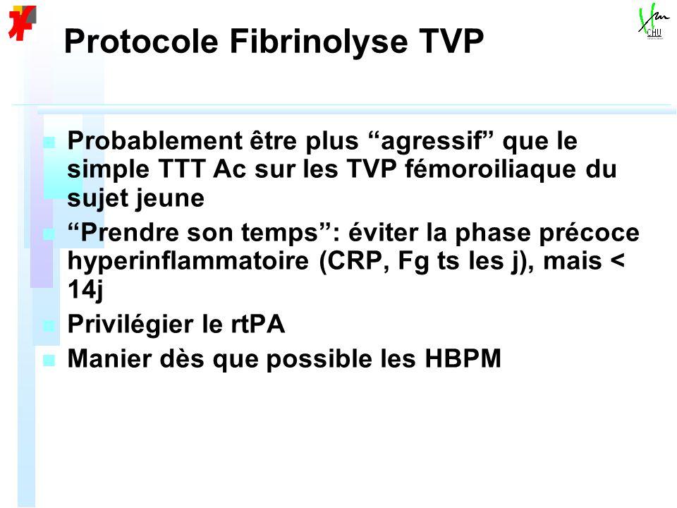 Protocole Fibrinolyse TVP
