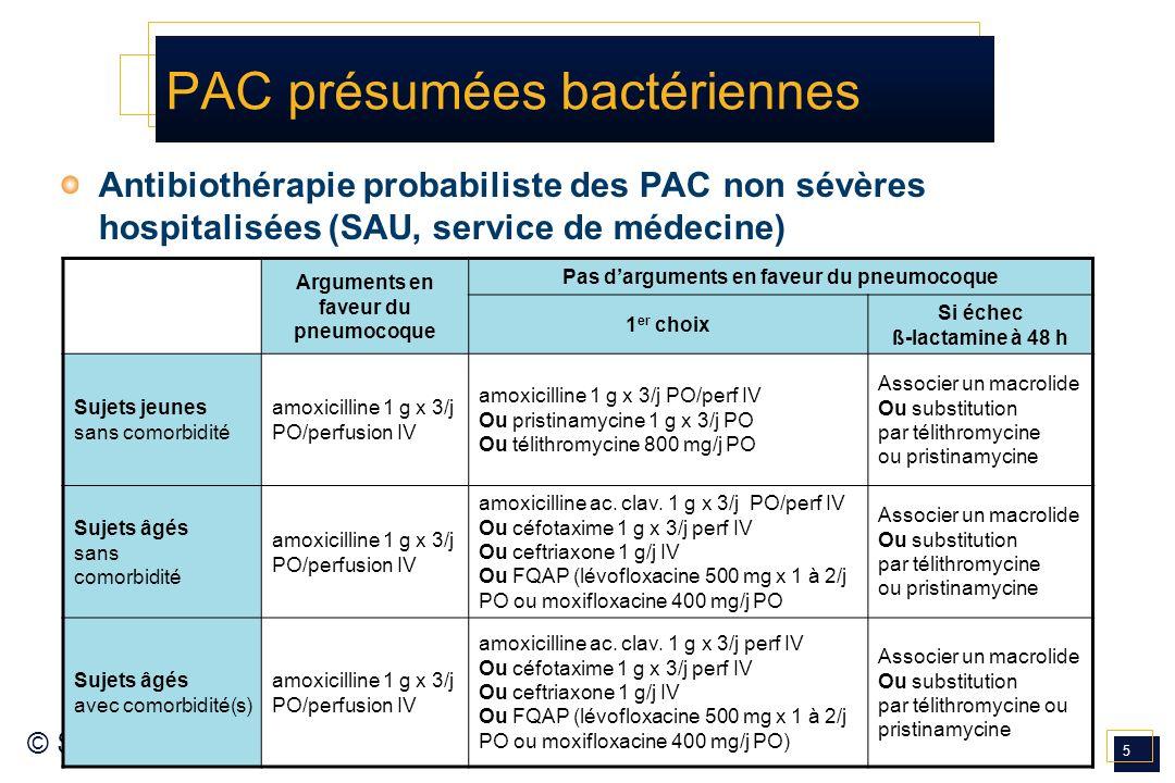 PAC présumées bactériennes