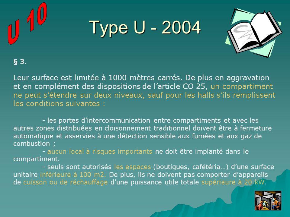 U 10 Type U - 2004. § 3.