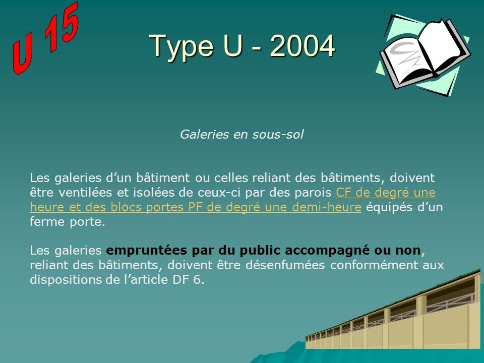 Type U - 2004 U 15 Galeries en sous-sol