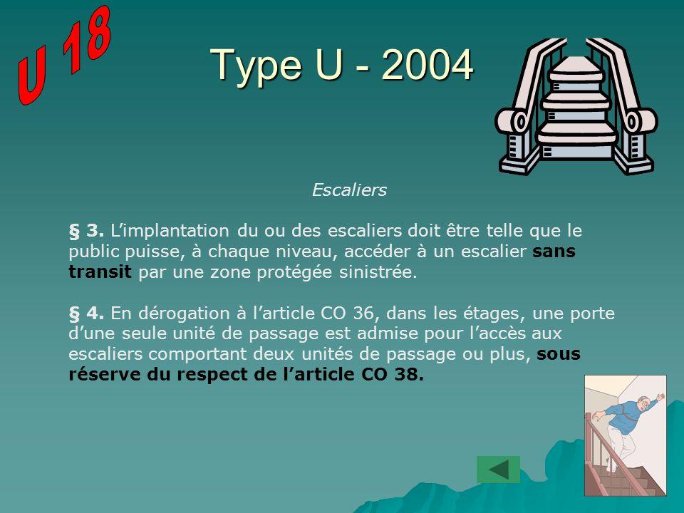U 18 Type U - 2004. Escaliers.