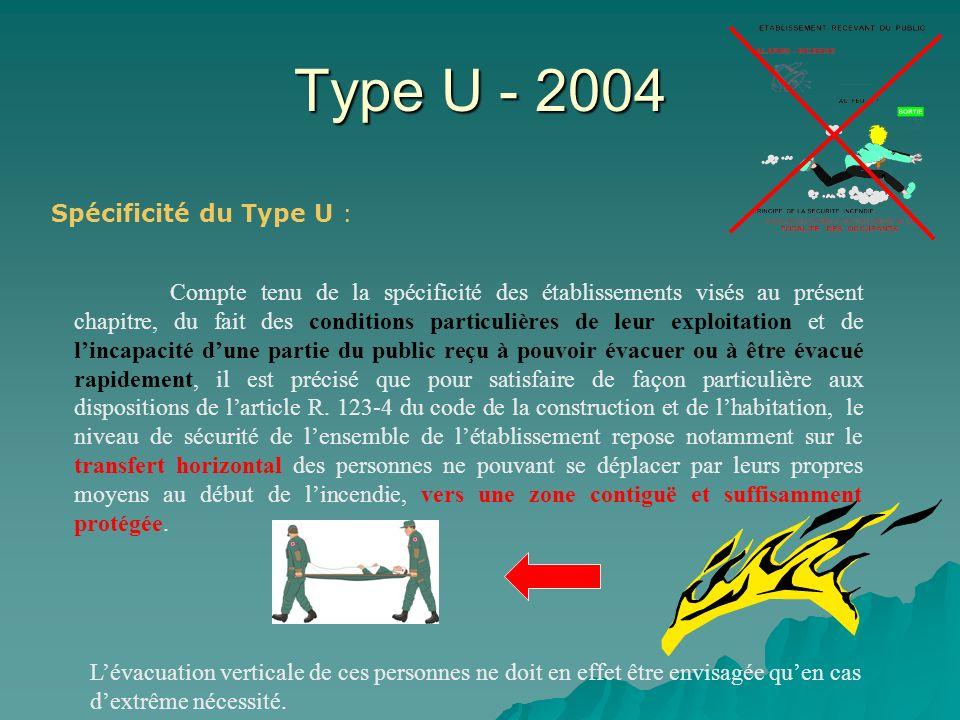 Type U - 2004 Spécificité du Type U :