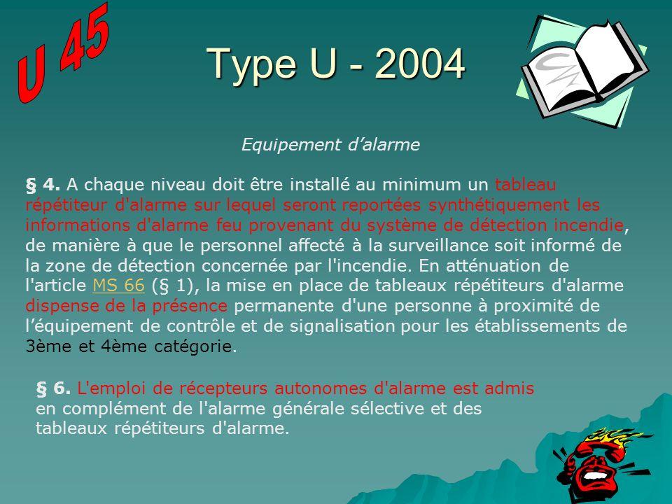 Type U - 2004 U 45 Equipement d'alarme