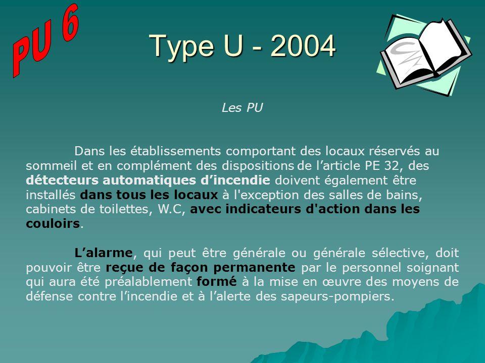 PU 6 Type U - 2004. Les PU.