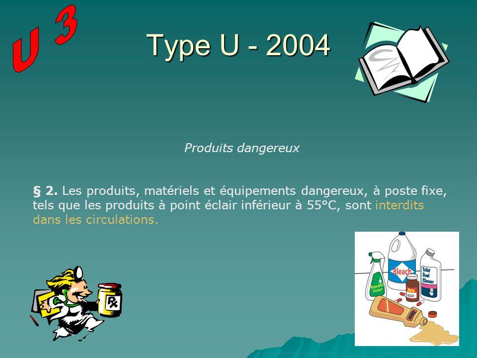 Type U - 2004 U 3 Produits dangereux