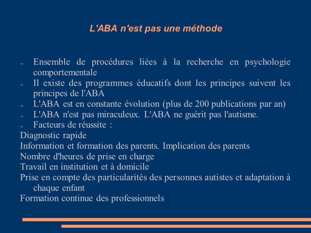 L ABA n est pas une méthode