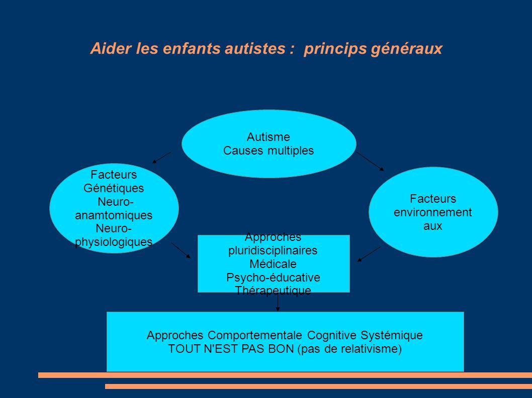 Aider les enfants autistes : princips généraux