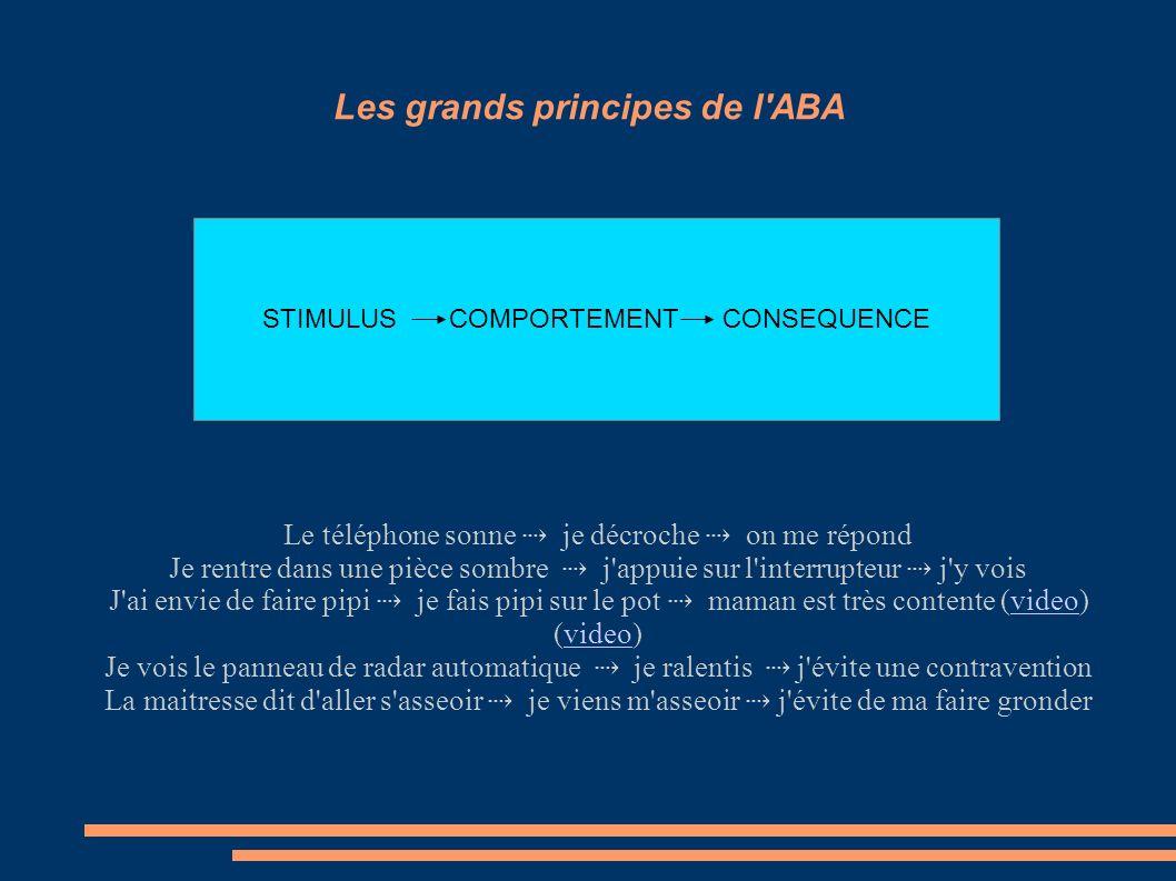 Les grands principes de l ABA