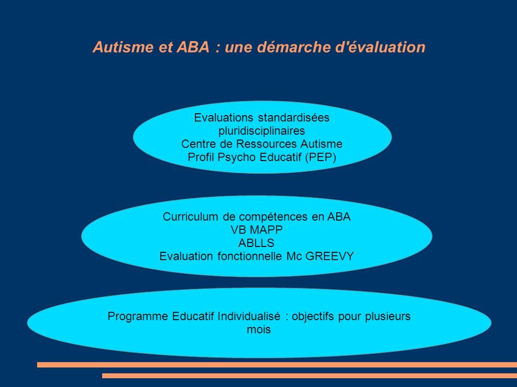 Autisme et ABA : une démarche d évaluation