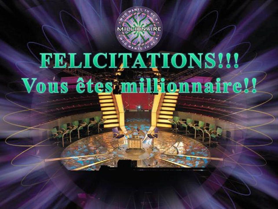 Vous êtes millionnaire!!