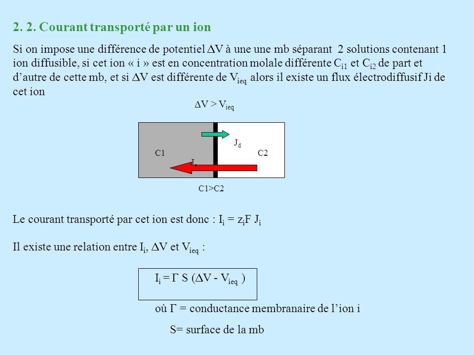 2. 2. Courant transporté par un ion