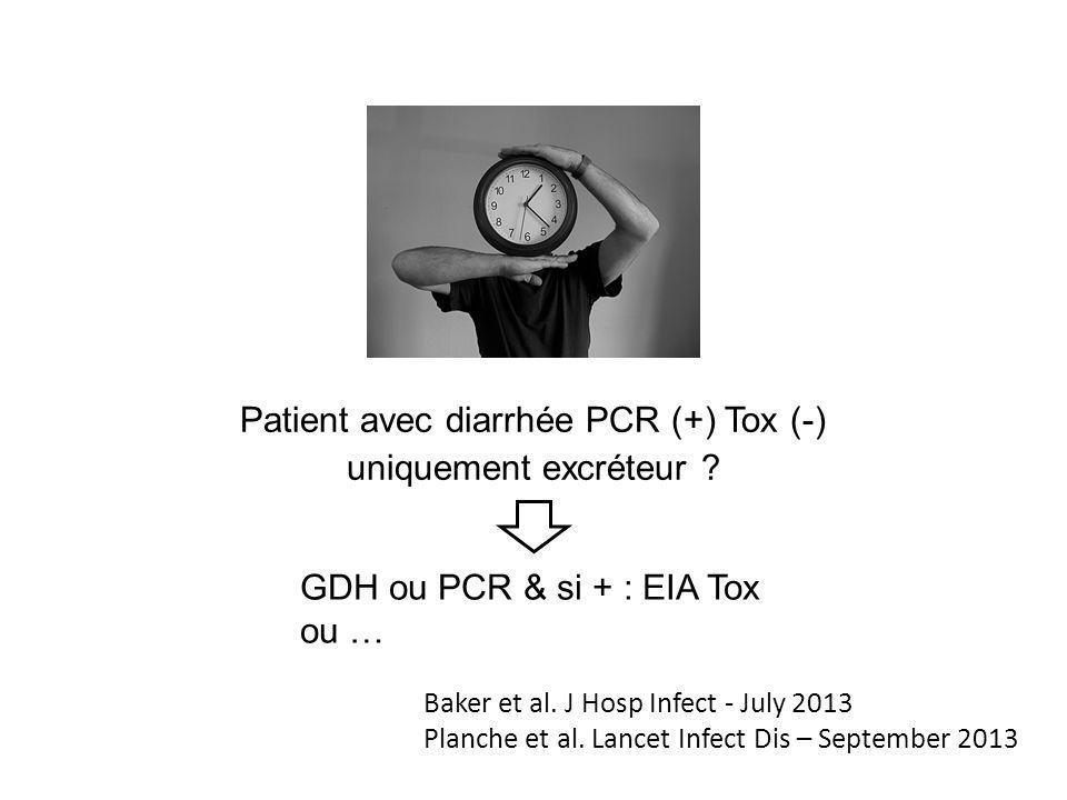 Patient avec diarrhée PCR (+) Tox (-)