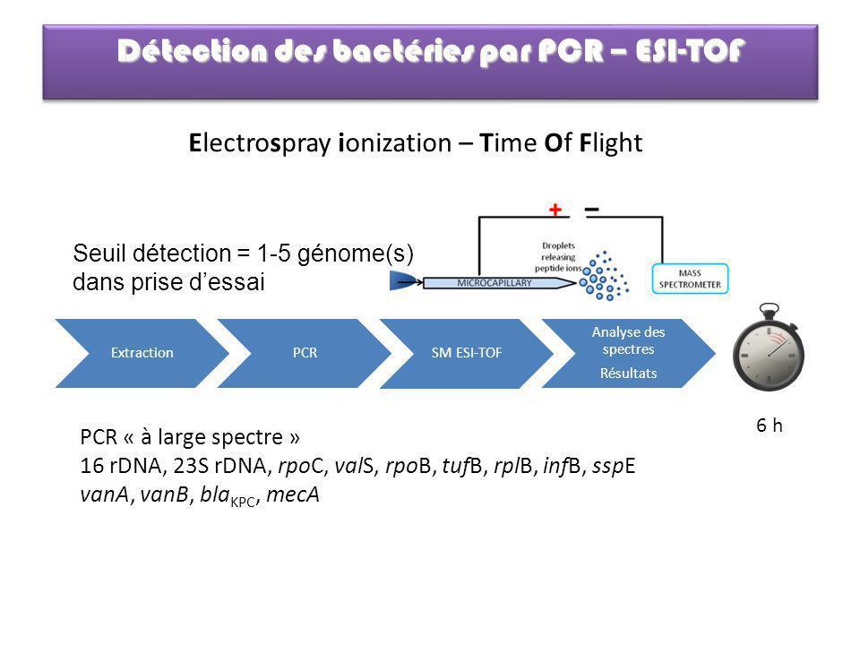 Détection des bactéries par PCR – ESI-TOF