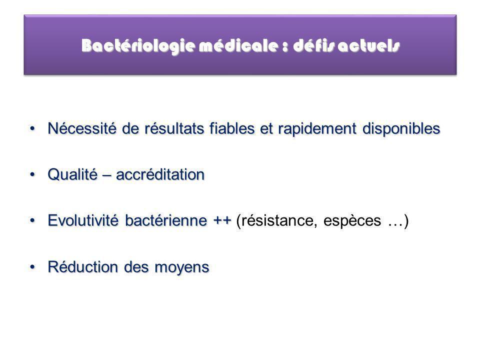 Bactériologie médicale : défis actuels