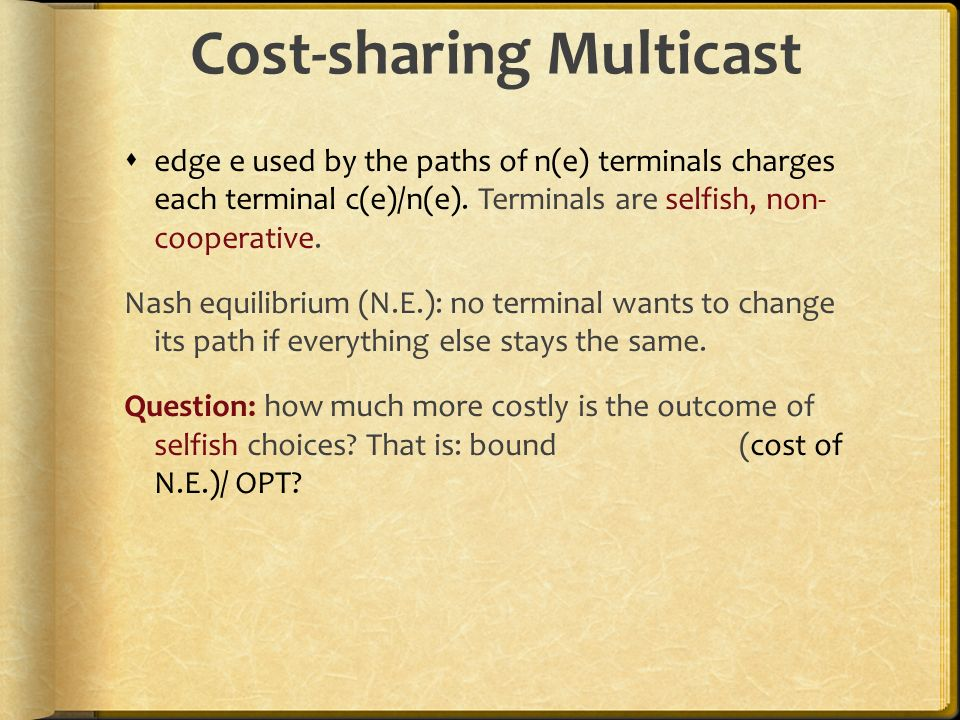 Cost-sharing Multicast