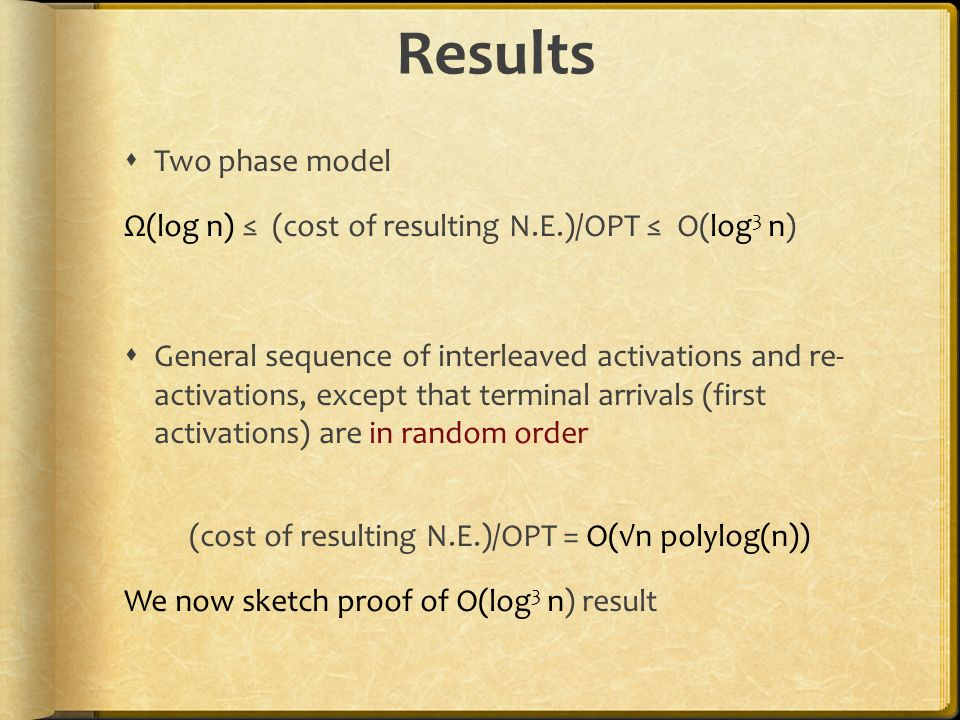 (cost of resulting N.E.)/OPT = O(√n polylog(n))