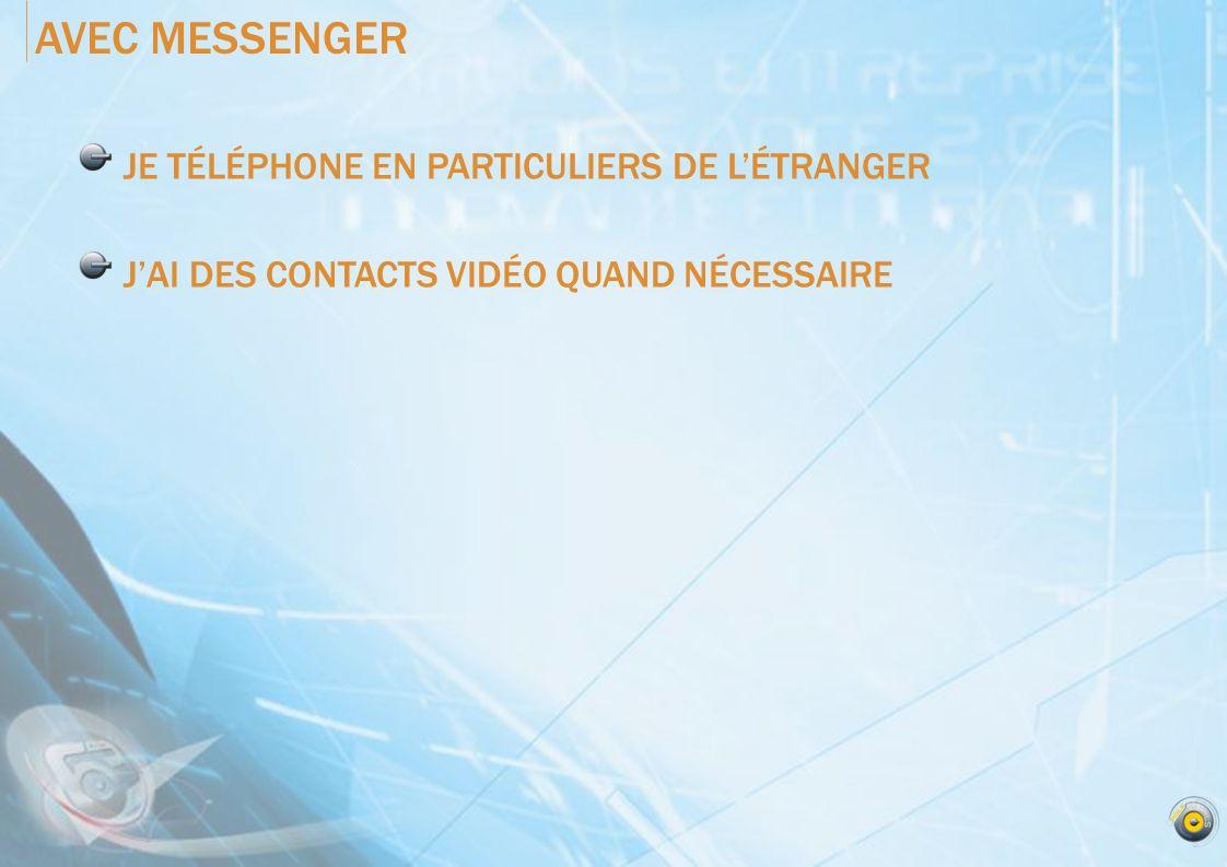 AVEC MESSENGER JE TÉLÉPHONE EN PARTICULIERS DE L'ÉTRANGER