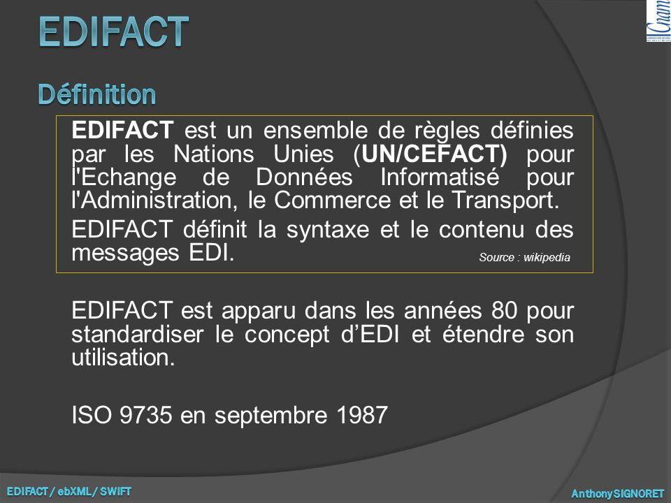 EDIFACT Définition
