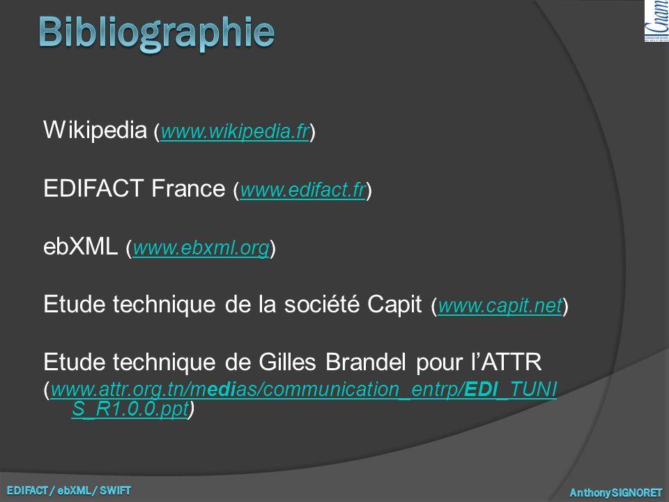 Bibliographie Wikipedia (www.wikipedia.fr)