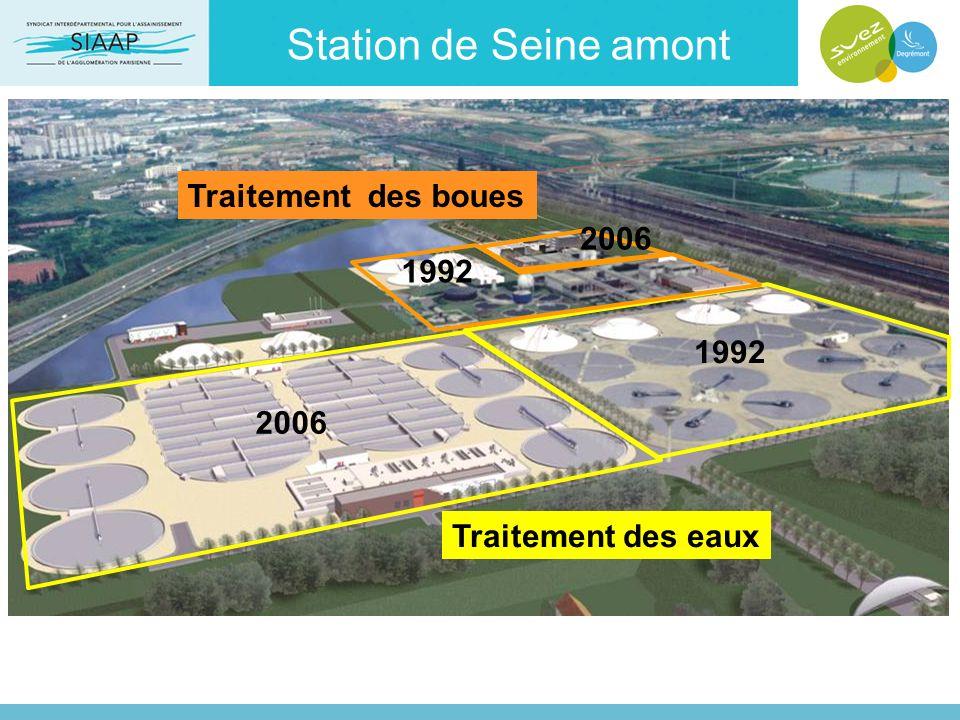 Station de Seine amont Traitement des boues 2006 1992 1992 2006