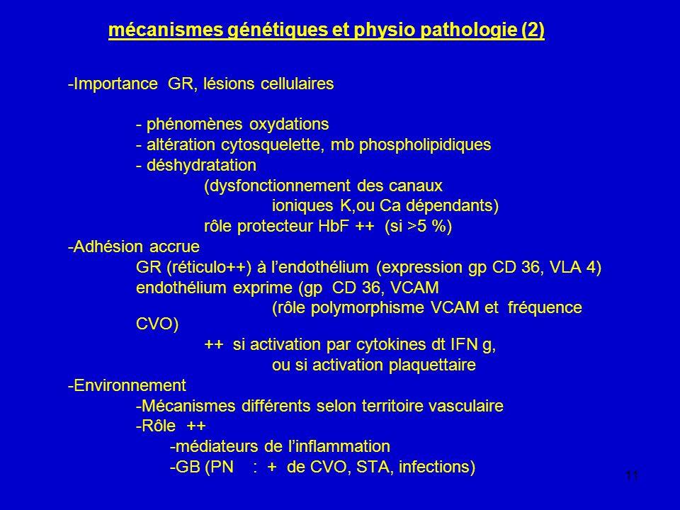 mécanismes génétiques et physio pathologie (2)