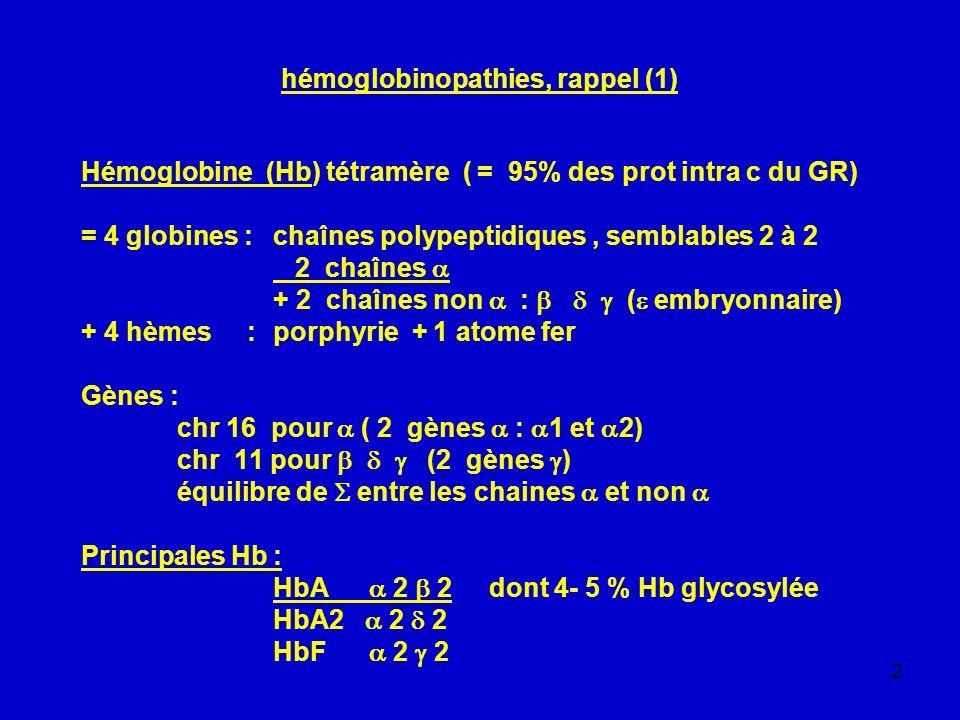 hémoglobinopathies, rappel (1)
