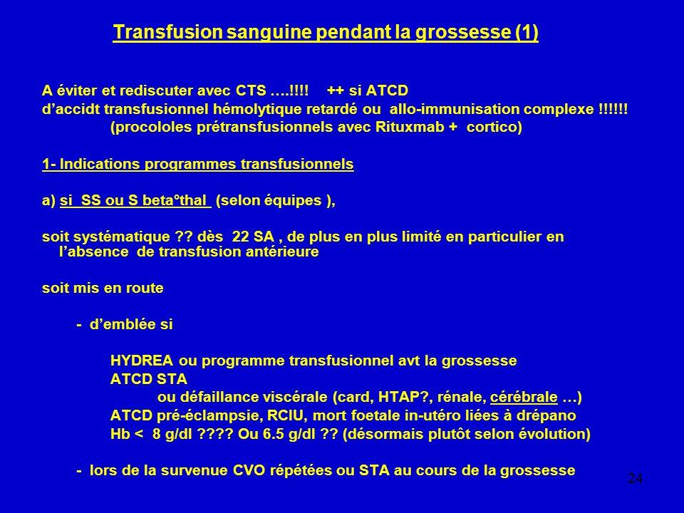 Transfusion sanguine pendant la grossesse (1)