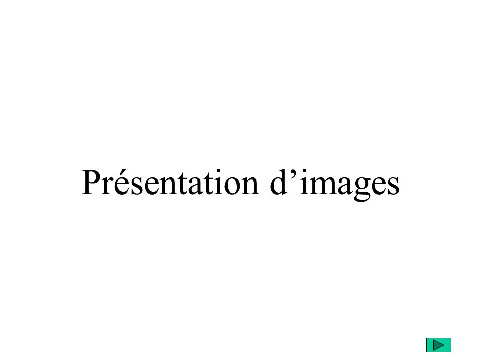 Présentation d'images