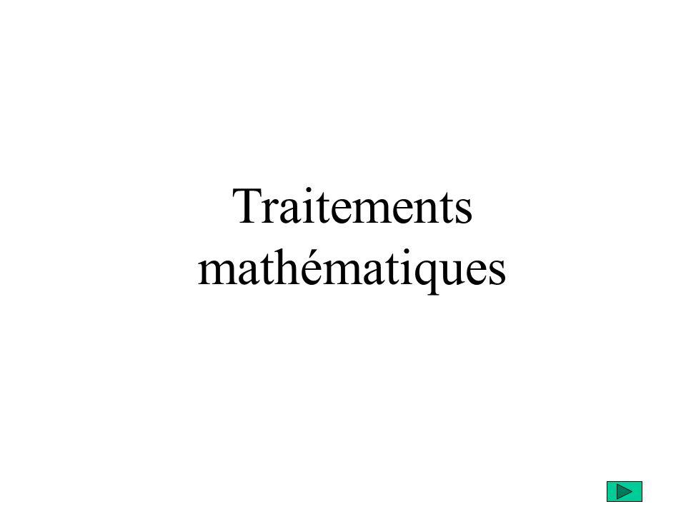 Traitements mathématiques