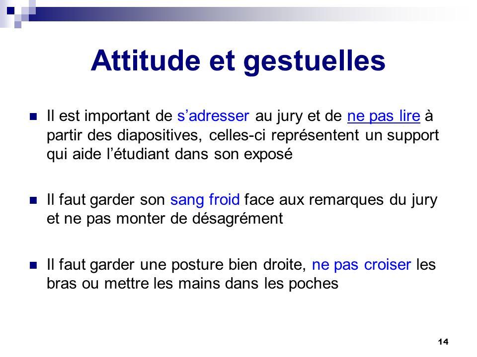 Attitude et gestuelles