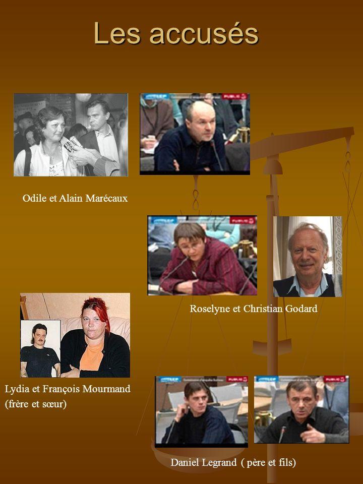 Les accusés Odile et Alain Marécaux Roselyne et Christian Godard