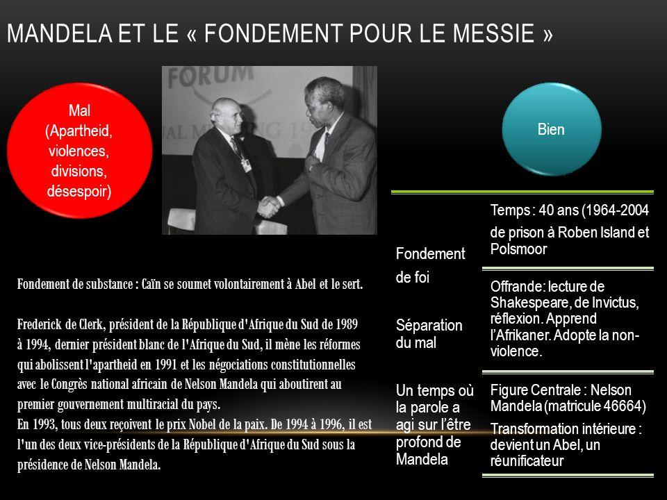 MANDELA et Le « fondement pour le messie »