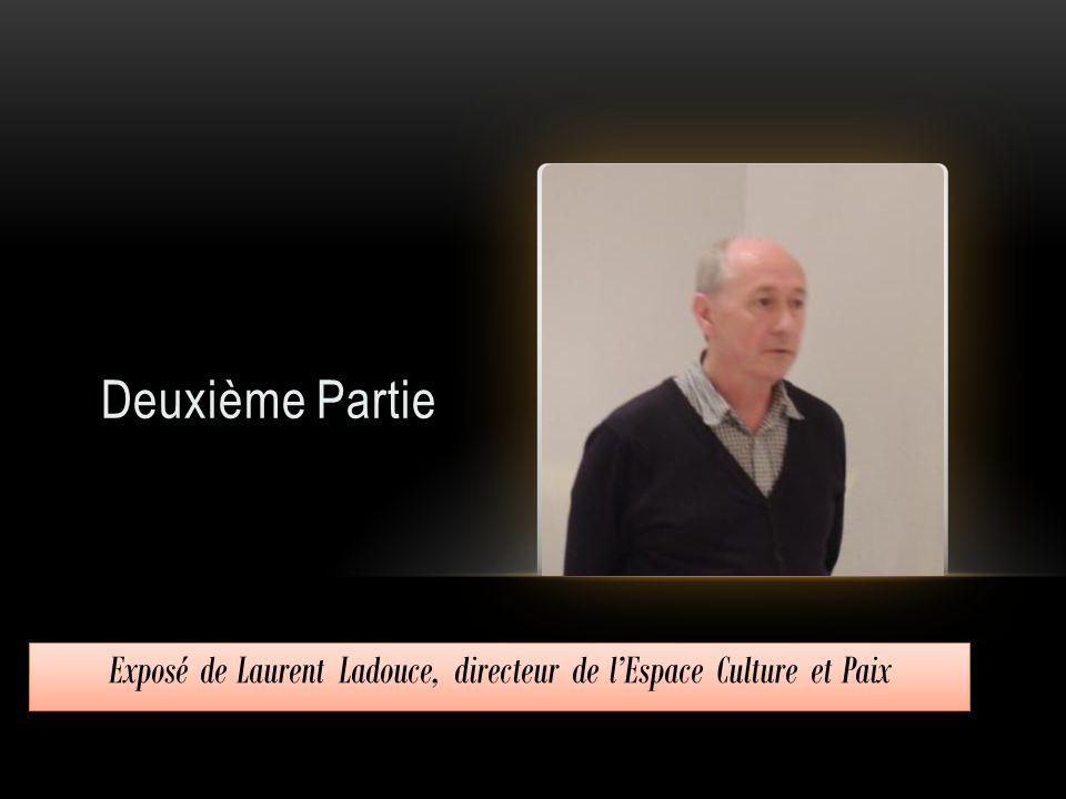 Exposé de Laurent Ladouce, directeur de l'Espace Culture et Paix