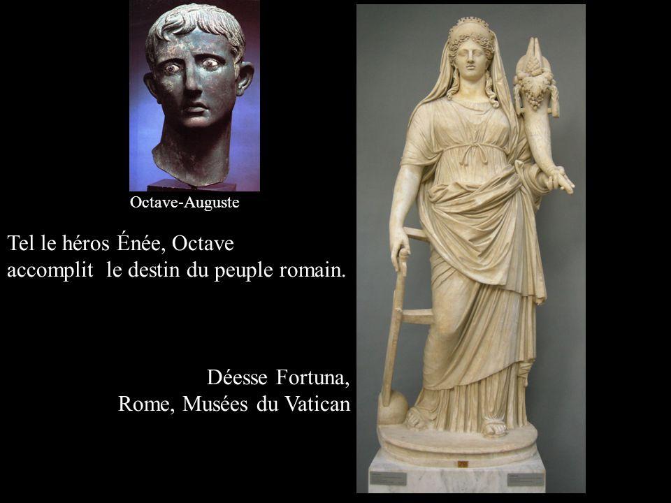 Tel le héros Énée, Octave accomplit le destin du peuple romain.