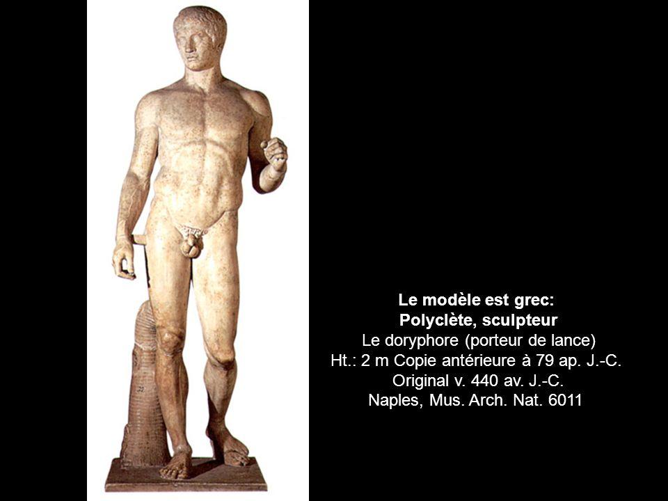 Le modèle est grec: Polyclète, sculpteur