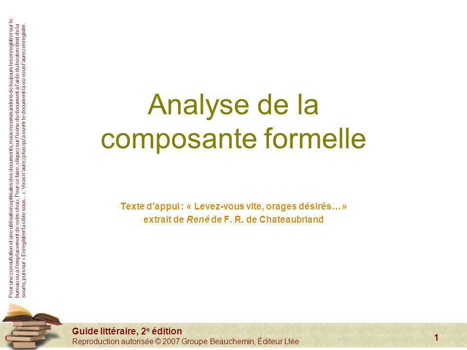 Analyse de la composante formelle