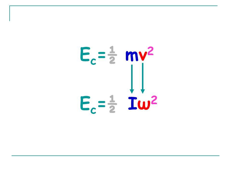 Ec=½ mv2 Ec=½ Iω2