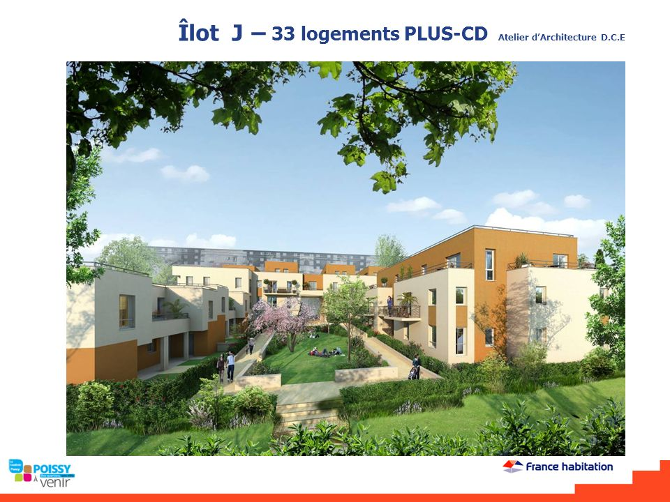 Îlot J – 33 logements PLUS-CD Atelier d'Architecture D.C.E