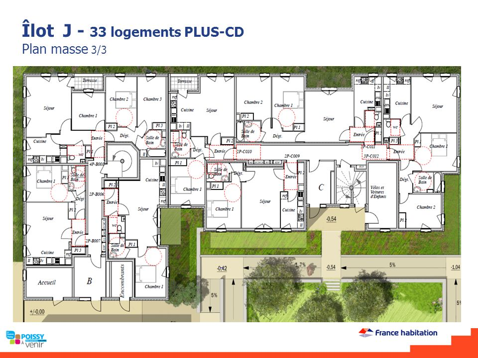 Îlot J - 33 logements PLUS-CD Plan masse 3/3