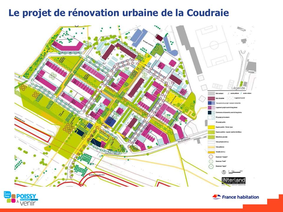 Le projet de rénovation urbaine de la Coudraie