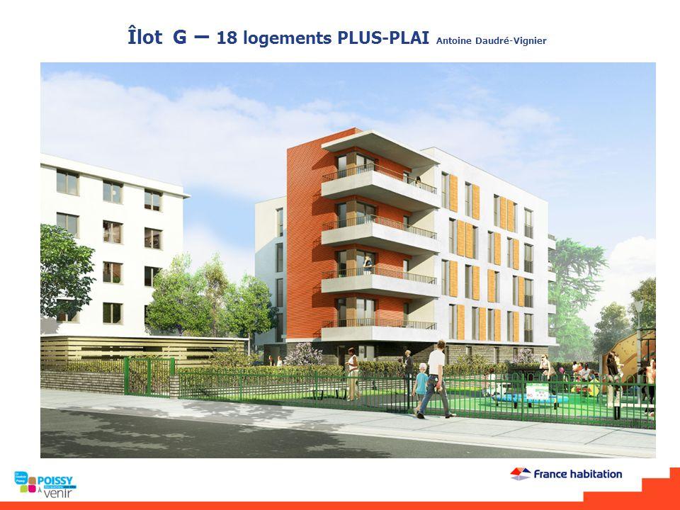 Îlot G – 18 logements PLUS-PLAI Antoine Daudré-Vignier