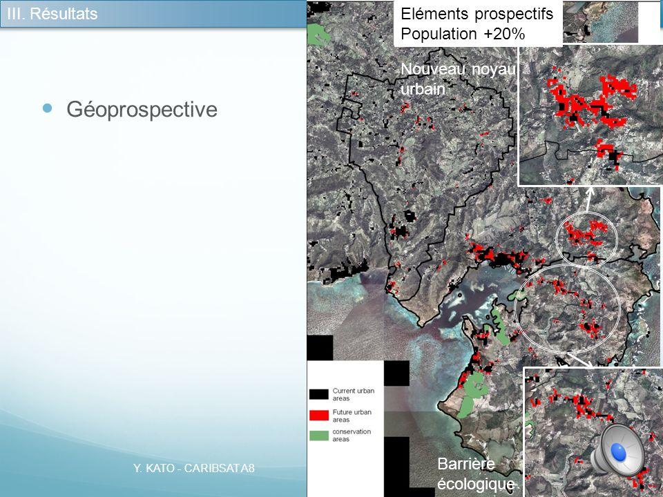 Géoprospective III. Résultats Barrière écologique Nouveau noyau urbain