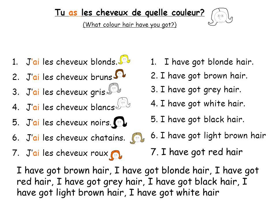Tu as les cheveux de quelle couleur
