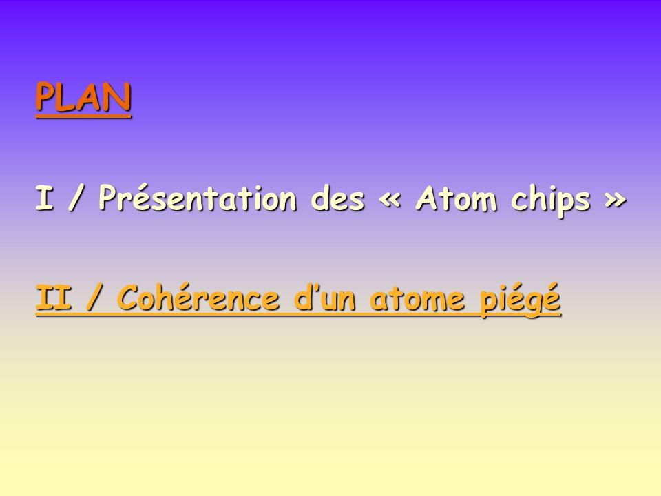 PLAN I / Présentation des « Atom chips »