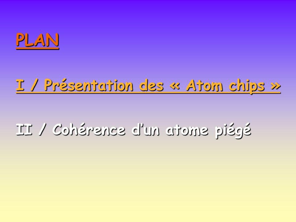 PLAN PLAN I / Présentation des « Atom chips »