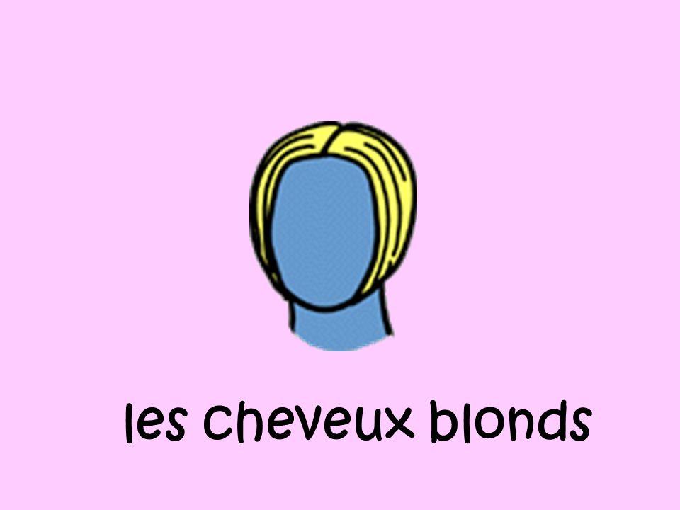 les cheveux blonds