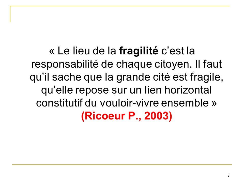 « Le lieu de la fragilité c'est la responsabilité de chaque citoyen