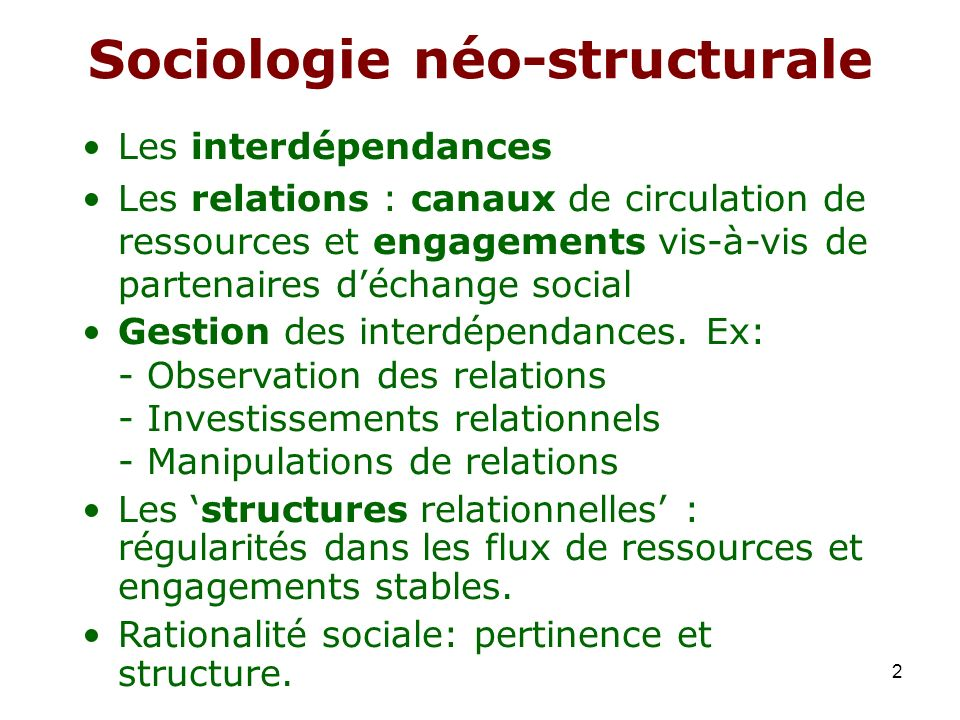 Sociologie néo-structurale