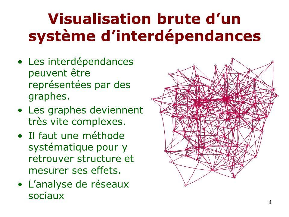 Visualisation brute d'un système d'interdépendances
