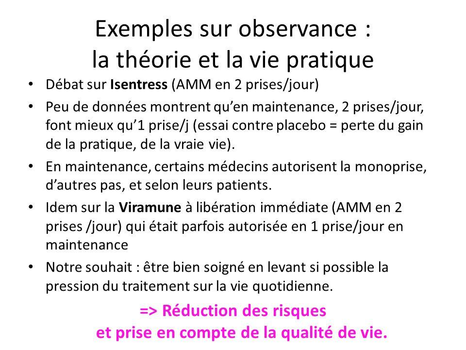 Exemples sur observance : la théorie et la vie pratique